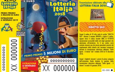 Lotteria Italia: due premi da 50 mila euro a Pescara e tre da 25 mila a Torino di Sangro, Sulmona e Colonnella