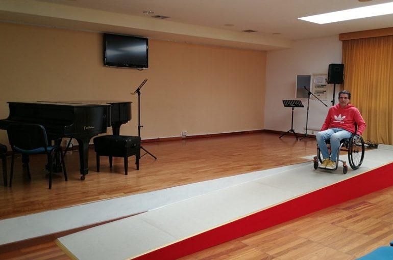 Palazzo Baldoni: realizzata una rampa per l'accesso dei disabili