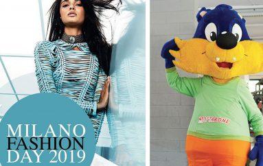 Motty, la mascotte del Mottarone, alla Milano Fashion Day