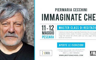 L'attore e regista Piermaria Cecchini a Pescara